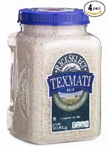 rice food storage Texmati four-pack