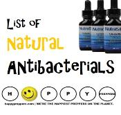 List of natural antibacterials