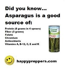 Asparagus is a good source of protein and more