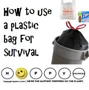 How to use a plastic bag for survival