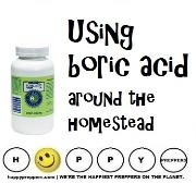 Using boric acid around the homestead