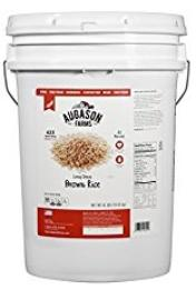 Augason Farms Bucket of brown rice