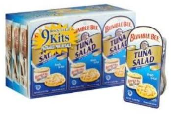 Bumble bee tuna snack packs  - 9
