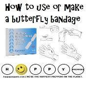 How to make and use a butterfly bandage