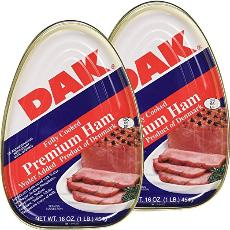Premium canned ham can
