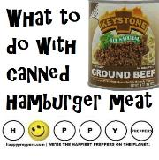 What to do with canned hamburger meat