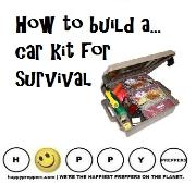 How to build a car kit for survival - master supply list