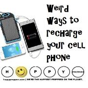 Weird ways to recharge your cell phone