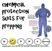 Chemical protection suits for prepping