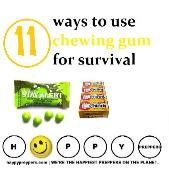 11 reasons to stock chewing gum for survival