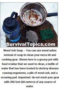 How to clean with wood ash