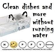 How to stay clean without running water
