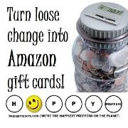 turn loose change into Amazon Gift Cards