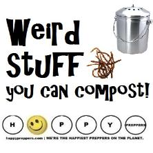 Weird stuff you can compost
