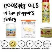 Cooking oils int the prepper's pantry