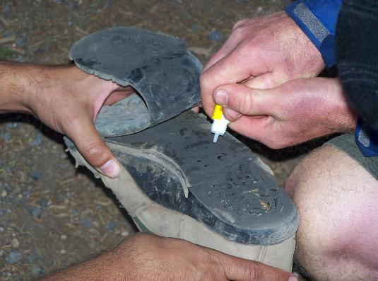 Crazy Glue to repair shoes isn't instant! You'll need duct tape to get to your destination.