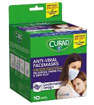 Curad antiviral face masks