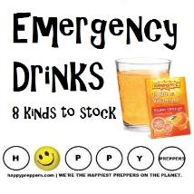 Emergency Drinks - 8 kinds to stock and prepare