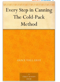Canning: The cold-pack method  - free kindle book