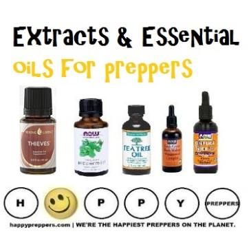 Extracts and Essential Oils for preppers