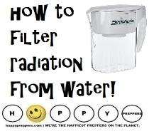 How to filter radiation from your water