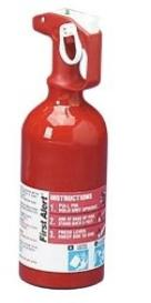 Fire extinguisher for the car