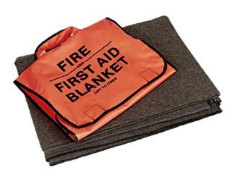 First aid fire blanket