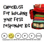 Checklist for building a first responder kit