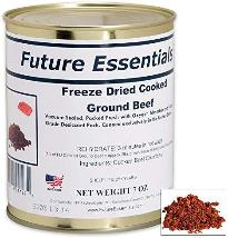 Future Essentials Freeze Dried Ground Beef ~ small can