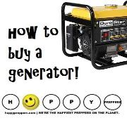 Prepper's Guide to buying a generator