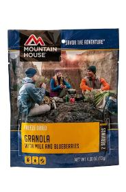 Mountain House Granola for backpacking or camping