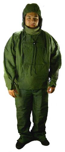 Green chemical suit