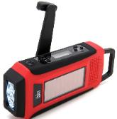 Earthquake preparations hand crank radio