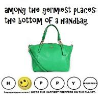 Bottom of the handbag is germy place
