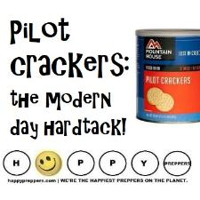 Pilot crackers are the modern hard tack