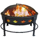 firepit with diamond decor