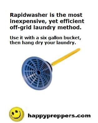 Rapidwasher off grid laundry solution
