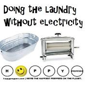 Doing the laundry without electricity