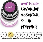 How to use lavender essential oil in prepping
