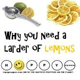 Why you need a larder of lemons