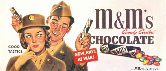 Chocolate poster for World War II