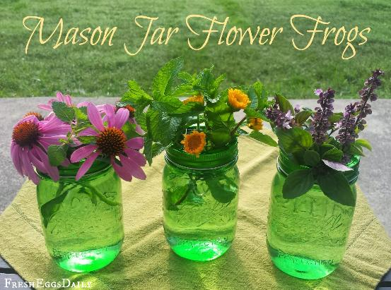 How to make your own flower friogs for mason jars