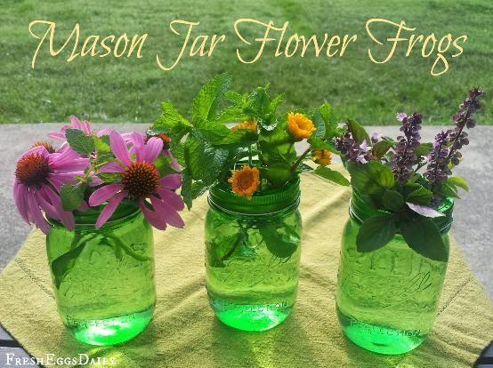 How to make your own flower frgos for mason jars
