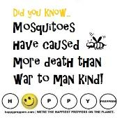 Mosquitoes have caused more deaths than war!
