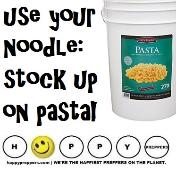 Use your noodle and stock up on pasta