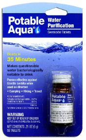 Potable Aqua tabs