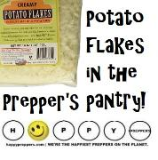 Potato flakes in the prepper's pantry