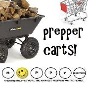 Prepper carts, dollys, hand trucks, wagons and wheelbarrows
