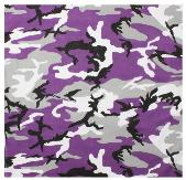 purple camo bandanna