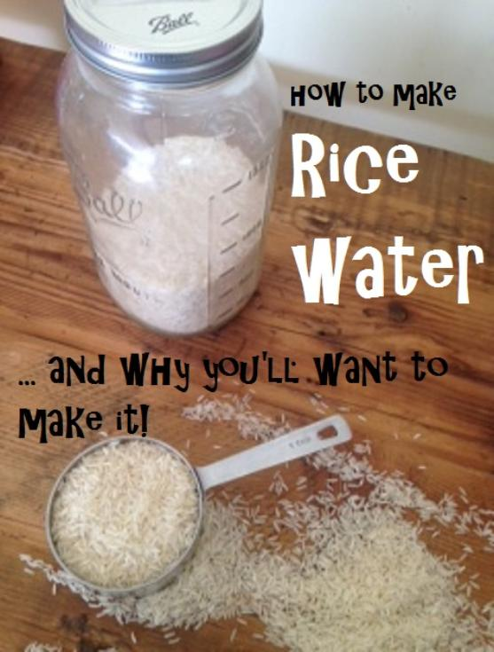 how to make rice water (and why you'll want to make it)